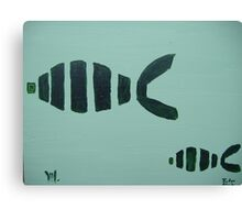 fishes with mika Canvas Print