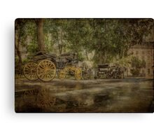 Textured carriages Canvas Print