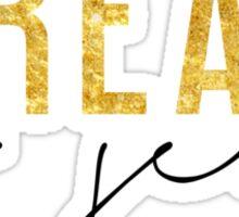 Treat Yo Self - Black & Gold Sticker