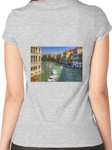 Light Traffic on the Grand Canal Women's Fitted Scoop T-Shirt