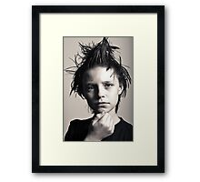 Many moods of Liam - Strike a pose there's nothing to it. Framed Print