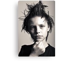 Many moods of Liam - Strike a pose there's nothing to it. Canvas Print
