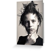 Many moods of Liam - Strike a pose there's nothing to it. Greeting Card