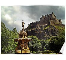 The Ross Fountain In Edinburgh, Scotland. Poster