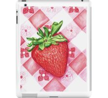 Berry Sweet Strawberry Colored Pencil Art iPad Case/Skin