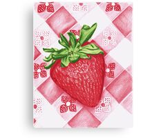 Berry Sweet Strawberry Colored Pencil Art Canvas Print