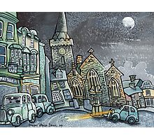 Moonlight Square, Tenby Photographic Print