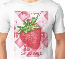 Berry Sweet Strawberry Colored Pencil Art Unisex T-Shirt