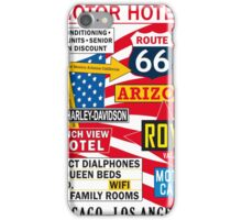 USA Route 66 Print Posters Decoration iPhone Case/Skin