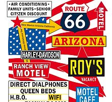 USA Route 66 - 66 Road Poster by Valtoria
