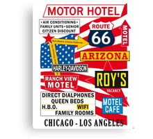 USA Route 66 - 66 Road Poster Canvas Print