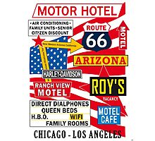 USA Route 66 - 66 Road Poster iPhone ipad Samsung Cases Skins Photographic Print