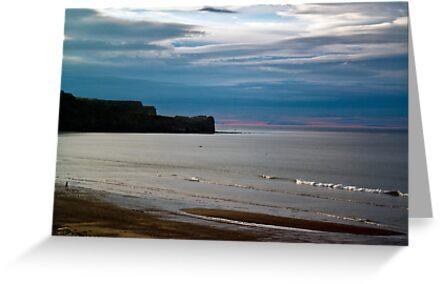 Evening at Sandsend Beach by Trevor Kersley