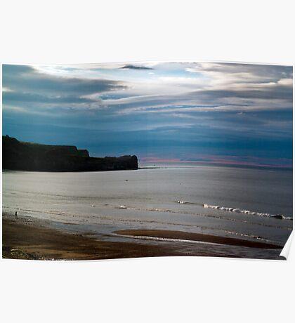 Evening at Sandsend Beach Poster