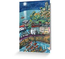 Summer Moonglow, Tenby Greeting Card