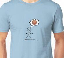 Thinking of basketball Unisex T-Shirt