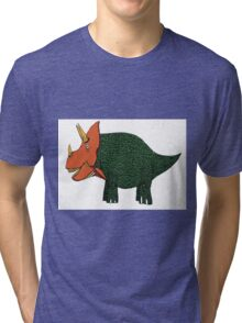 Triceratops! Tri-blend T-Shirt