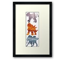 Raikou, Entei, Suicune (elements) Framed Print