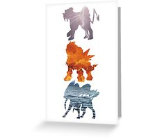 Raikou, Entei, Suicune (elements) Greeting Card