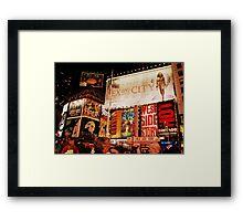 broadway. Framed Print