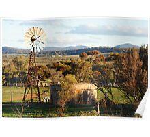 WindMill , Willochra, South Australia Poster