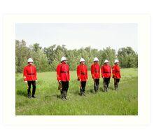 Northwest Mounted Police Regiment Art Print