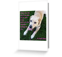 All of the pets you've ever loved! Greeting Card