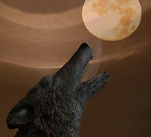 Howling At The Moon IV by Al Bourassa