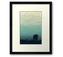 Howl's Flat Poster Framed Print
