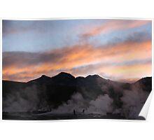 El Tatio geyser field Poster
