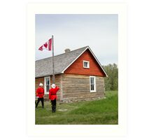 The Flag Raising, Canada Day 2010 Art Print
