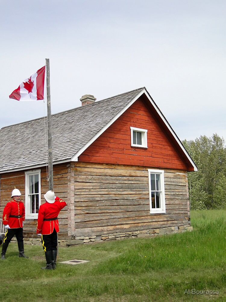 The Flag Raising, Canada Day 2010 by Al Bourassa