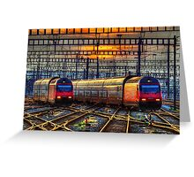 Sunset at Zurich Main Station III Greeting Card