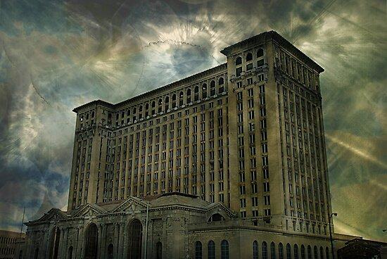Detroit, Michigan Central Station by Malena Fryar