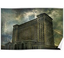 Detroit, Michigan Central Station Poster