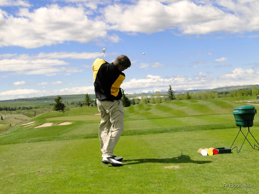 Golf Swing I by Al Bourassa