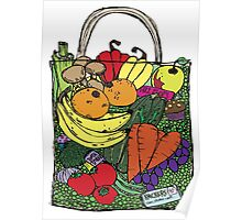 The Best Vegetable shopping bag in the world. Chocolate Hidden Poster