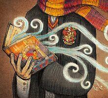 Harry Potter Books Magic by illustore