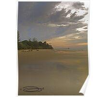 Moody Reflections ~ Crocodile Beach, Borneo. Poster
