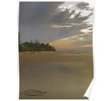 Moody Reflections ~ Crocodile Beach, Borneo. Poster