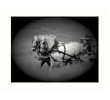 The Grey Team, Bar U Ranch Art Print