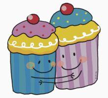 Blue and pink cupcake besties Kids Tee
