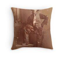 1908 Homesteading Grandpa Throw Pillow
