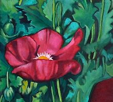 Night Poppies 3 by Lori Elaine Campbell