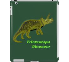 A digital painting of my vector drawing of a Triceratops Dinosaur iPad Case/Skin