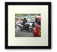 Hey, Keep your Eyes On the Road!!  Framed Print