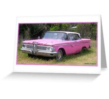 Edsel in Pink Greeting Card