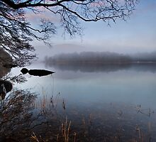 Misty morn' over Coniston water by Shaun Whiteman