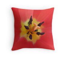 Center of A Tulip Throw Pillow