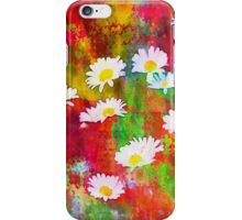 Daisies in an Abstract Red Field iPhone Case/Skin
